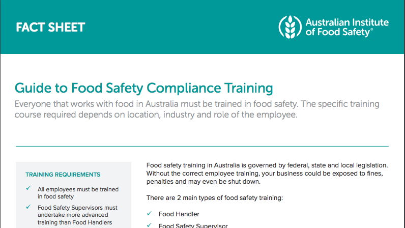 guide to food safety compliance training