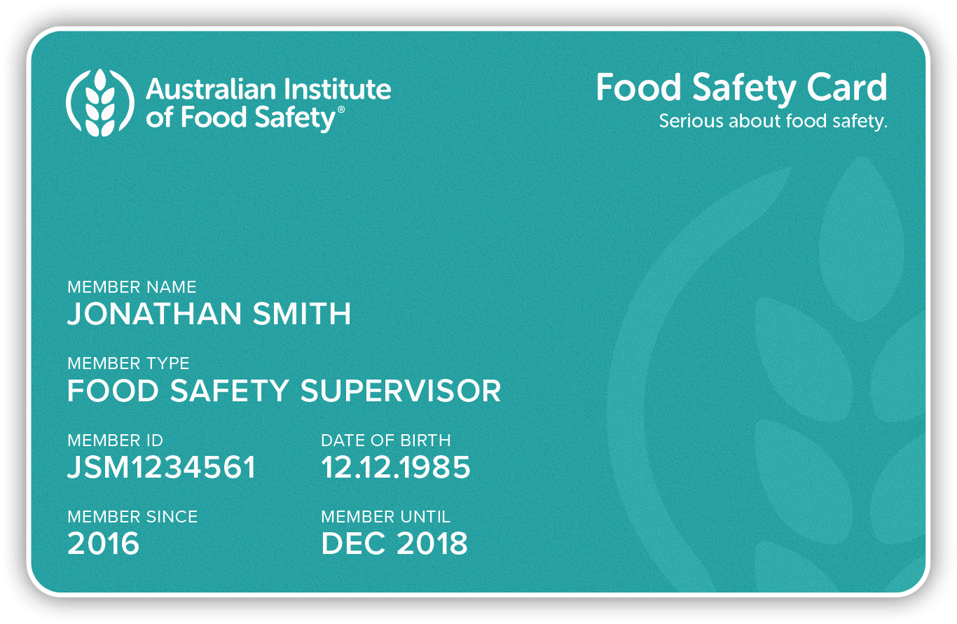 Green Food Safety Supervisor Card